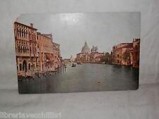 Vecchia cartolina foto d epoca di Venezia Canal Grande e Chiesa della Salute