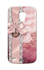 CUSTODIA COVER CASE FIOCCO ROSA RIBBON PINK CELLULAR SAMSUNG GALAXY S5 MINI G800