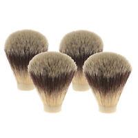 4 Pieces Soft Beard Shaving Brush Head Knots for Salon Hair Brush Handle
