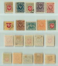 Lithuania 1919 SC 40-49 used . rta9183