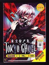 *NEW* TOKYO GHOUL SEASON 1+2 *25 EPS/2 OVA*ENGLISH DUBBED*ANIME DVD*US SELLER