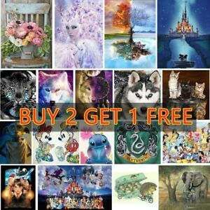 5D Full Drill Diamond Painting Kits Embroidery Cross Stitch Cartoon Animal Gifts