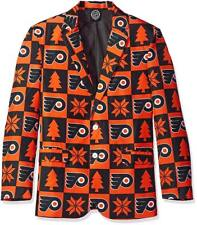 Too Cool!  Philadelphia Flyers SUPER FAN Ugly Christmas Jacket Size XL (48) _S98