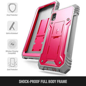 For Galaxy A10E 360° Full Cover Shockproof Phone Case+Screen Protector Pink