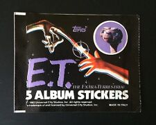 ET extra terrestrial (1982) X3 RARE Sealed Sticker Packs ~ Vintage ~ Topps