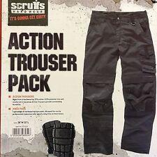 Scruffs Drezna Trade Denim Work Jeans Cargo Trousers Knee Pad Pockets 36/32
