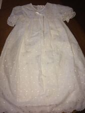 Petit Ami Size 12 Month Christening Gown Eyelet Design