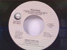 """MADONNA """"CRAZY FOR YOU"""" / BERLIN """"NO MORE WORDS"""" 45"""