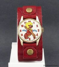 RARE 1972 wind-up Hair Bear Cartoon Character Watch Hanna Barbera