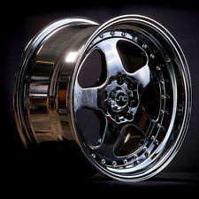 16x9 JNC JNC010 010 4x100/4x114.3 15 Black Chrome Wheel New set(4)