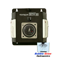 2 X TIMER BOX 2 WITH OUTPUTS 2X1000W INDUSTRIAL HYDROPONICS 4 GROW TENT FAN ROOM