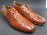 Delli Aldo Mens Lace Up Oxfords Brown Sz 10 Dress Shoes Leather lining M3-19006