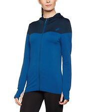 ASICS Womens 134490  Fit-sana Seamless Jacket Poseidon Blue Size M