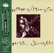SLAPP HAPPY / HENRY COW DESPERATE STRAIGHTS CD MINI LP OBI Blegvad Krause Moore