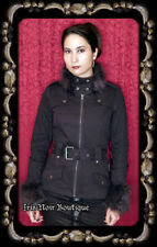 Tripp NYC Gothic Lolita Victorian Punk Anime Cosplay Fur Collar Zip Up Jacket M