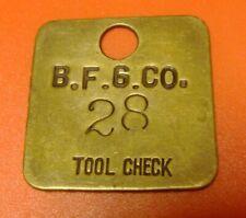Goodrich Tires Car Club Employee Name Tag Patch 322R Rare Vintage 1970`s B.F