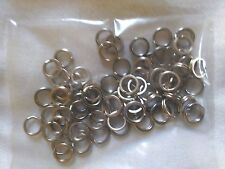 8mm SPLIT RINGS 304 STAINLESS STEEL x 50 Pack! TERMINAL FISHING TACKLE LURES
