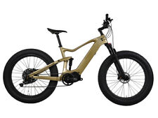 Carbon Fat Bike Electric Bicycle 28mph Ebike Bafang Shimano MTB Suspension 26er