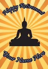 Bouddha heureuse retraite carte personnalisé greetings cards
