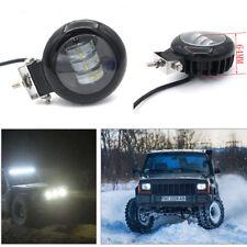 Car Truck 72W 10800LM 6000K Round LED Worklight Super Bright Foglight Headlight