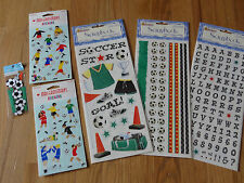 Soccer Scrapbooking Stickers Borders Alphabet Boy & girl Embellishments