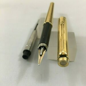 Rare Parker 180 Impeail Gold plated FP 14k-585 F/B nib as Mint USA