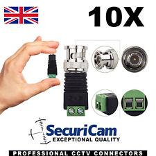 10 x conectores de alimentación Balun Video CD CA Para Tiras De Led Y Utp dispositivo antimanipulación TVI CVI Cctv
