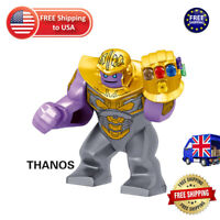 Thanos Figure Lego Avengers 4 Fit Gauntlet Gold Armour Avengers End Game Marvel