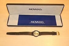 Movado 87-40-882N MOP Face w/ Black Leather Band Pre-owned Free Shipping