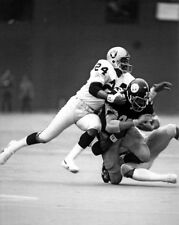 Oakland Raiders WILLIE BROWN tackling Franco Harris Glossy 8x10 Photo Poster