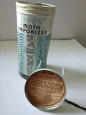 Vintage Apex Moth Vaporizer Tin Clean Home Products Chicago ILL
