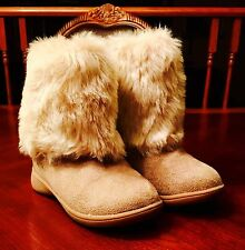 Carter's Toddler Size 8 Girl's Winter Fur Boots