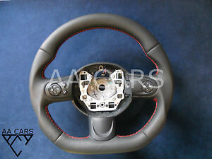 Steering Wheel BMW Mini Cooper R55 R56 R57 R58 R59 Leather Flat Bottom