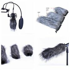 Mic Muff Fur Wind Cover Microphone For Zoom H1 H4N Q3 Q3HD D50 Recorder
