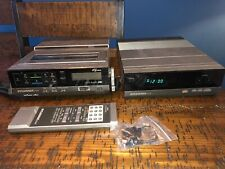 1985 Sylvania Audio/Video Vhs And Synthesizer Portable & Remote.(Parts)