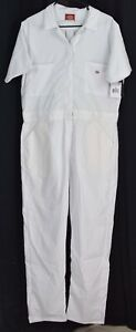 Dickies Women's Short Sleeve Flex Coverall White Size XL