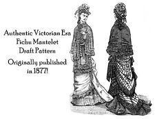 Victorian Fichu Mantelet Pattern Draft Tailor's 1877 Historic Reenactment DIY