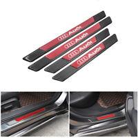 4PCS Carbon Fiber Car Door Scuff Sill Cover Panel Step Protector For Audi