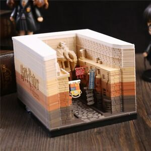 Lighted Harry Potter Hogwarts Castle/Diagon Alley Reveals As You Remove Memo Pad