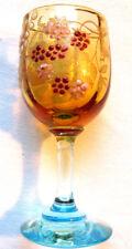 Verre à liqueur George SAND émaillé Legras Art Nouveau: Fleurs rouges et roses