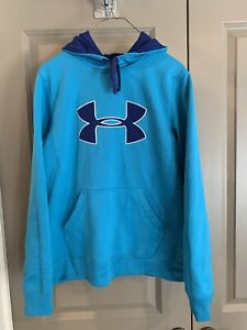 NWOT Under Armour Boys Youth Loose Blue Hoodie Size Medium
