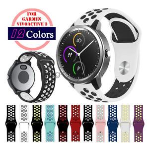 Watch Band for Garmin Vivoactive 3/Forerunner 645, Silicone Sport Watch Strap
