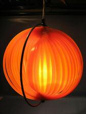 Designer Deckenlampe Orange Lamellen Halbkreise 1970.Jahre-Designer ceiling lamp