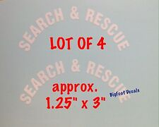 Decal Search And Rescue LOT OF 4 MINI Fire Rescue Helmet Window Sticker