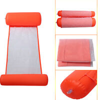 Water Hammock NEW Summer Swimming Pool Toy Inflatable Floating Bed Lounge Chair