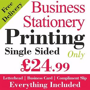 Business Stationery Letterhead + Business Card + Compliment Slip Colour Printing
