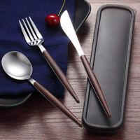 Stainless Steel Cutlery Chopsticks Spoon Fork Storage Box Tableware Dinnerware