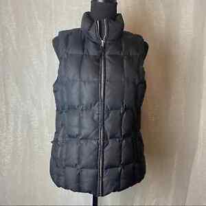 GAP Black Puffer Vest Size M