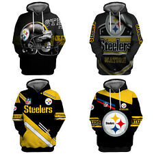 Pittsburgh Steelers Hoodie Mens Football Sweatshirt Casual Jacket Coat Fans Gift