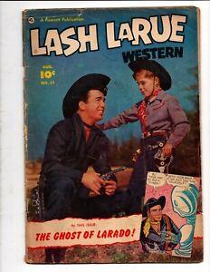 LASH LARUE WESTERN # 31 FAWCETT COMICS August 1952 GOLDEN AGE PHOTO COVER